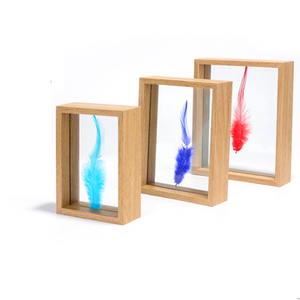 Modern Design Christmas Gift DIY Float Frame Creative Home Decorative MDF Float Frame Material Double Glass Photo Picture Frame