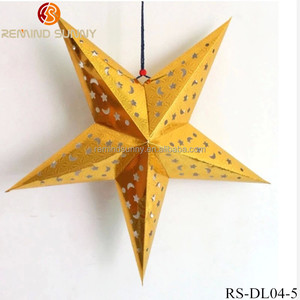 Hanging Hollow Out Paper Star Lantern For Wedding Christmas Party Decor