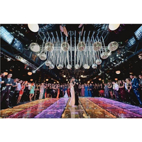 Wedding Party Acrylic Glass 3D Led Light Up Mirror Dance Floor Panels