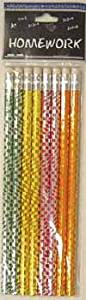 Foil Pencils - 8 pack - Asst.Designs Case Pack 48 - Echowalt update