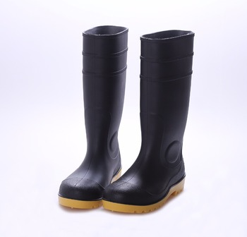 cd7c662d047 Black Safety Gumboots With Steel Toe Cap, Boots Waterproof Gardens, View  Safety Gumboots , OEM Product Details from Wenzhou Zhongyu Technology Co.,  ...