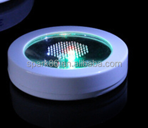95*22mm light up led coaster 3*AAA led coaster table mats