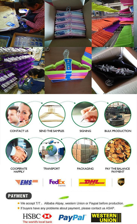 Cinese della fabbrica del commercio all'ingrosso a buon mercato a breve fantasia del bambino di plastica in pvc rivestito filo gancio di vestiti per i bambini appendiabiti