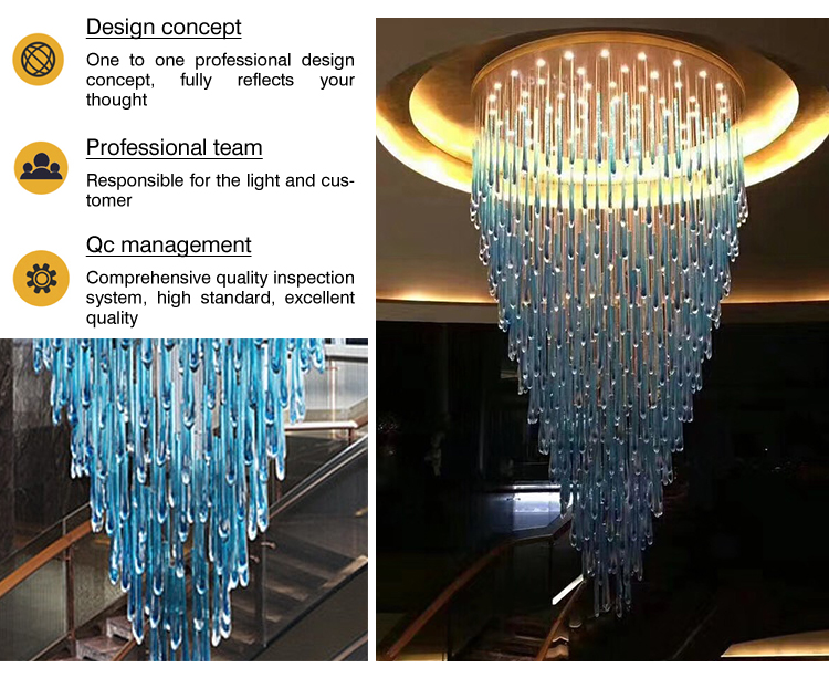 Classical new Chinese style k9 Crystal hanging chandelier pendant lamp