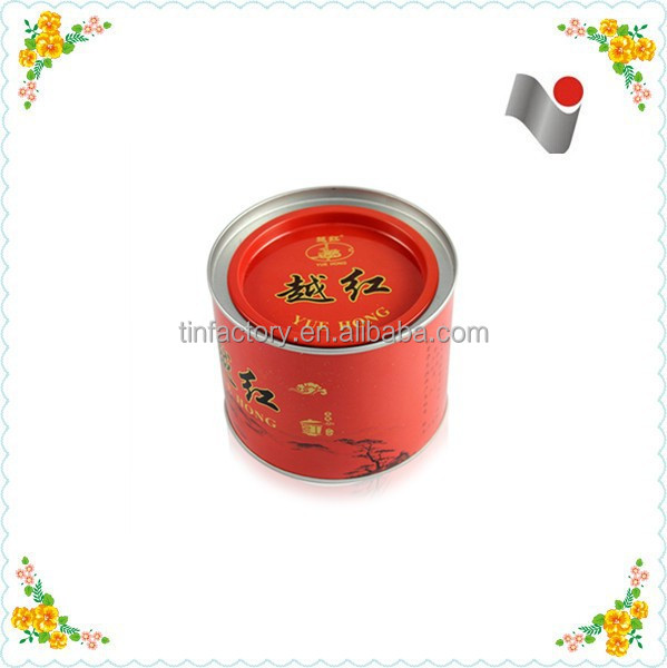 custom design empty tea tin with food safe material/eco-friendly tea tin box in China