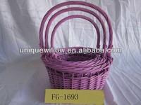 Wicker easter baskets Wholesale easter baskets Easter egg basket FG-1693
