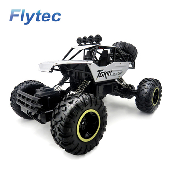 Flytec 6026E Remote Car 4WD Off-Road Buggy RC Rock Climbing Car Alloy Remote Control Toy Silver