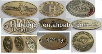 Metal Furniture Label, Iron Engraved Label, Soft Namel Badge, Metal Embossed  Label