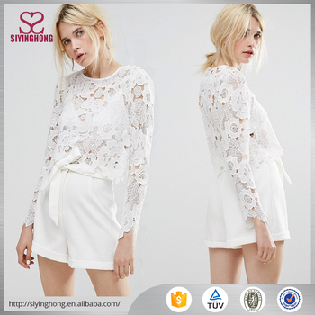 Long sleeve white flower lace women sexy transparent blouse buy long sleeve white flower lace women sexy transparent blouse mightylinksfo