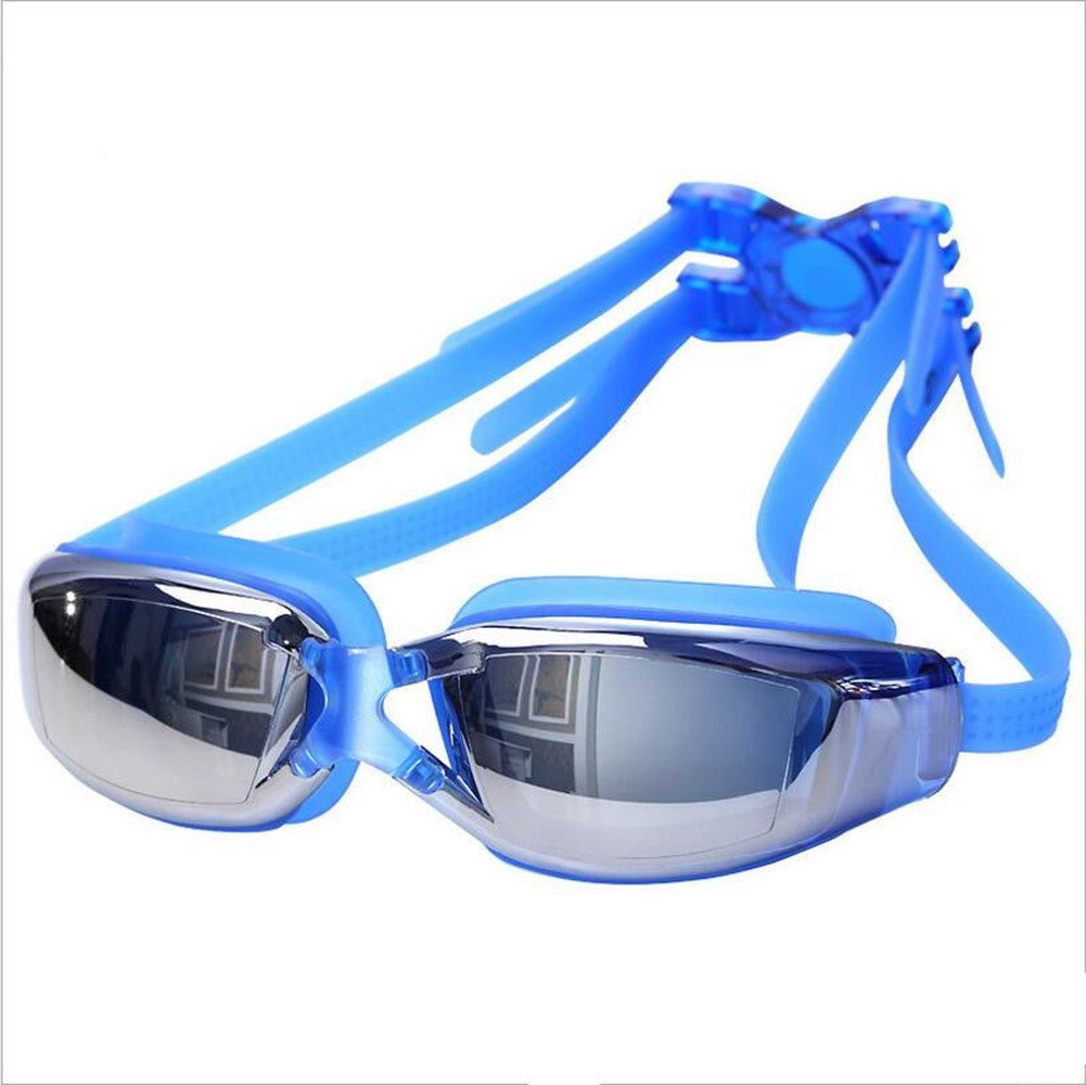 07ef62672da Get Quotations · Sky-shop Women s Mirrored Swim Goggle Junior Swim Goggles  Bungee Cord Strap Swim Mask Fog