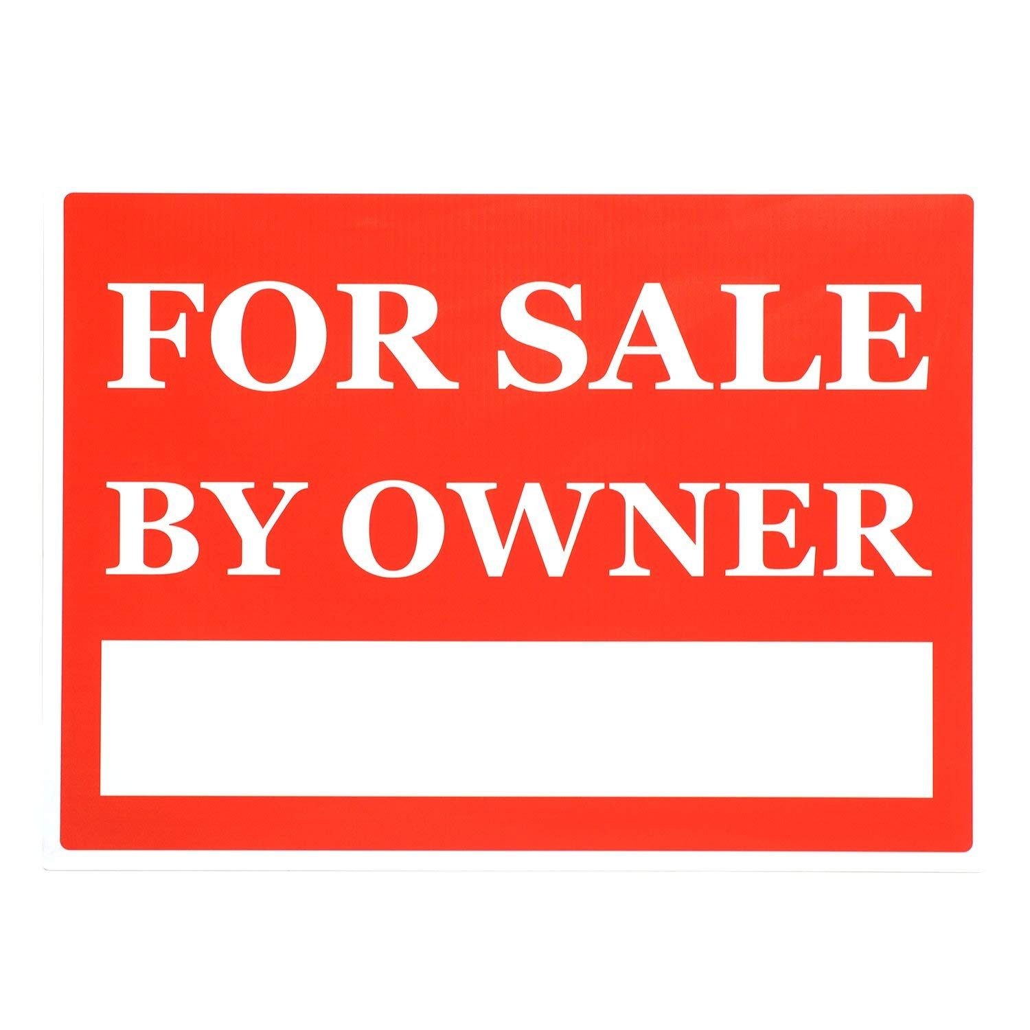 Buy For Sale By Owner Print Black Red Signs Sell Window Poster Real
