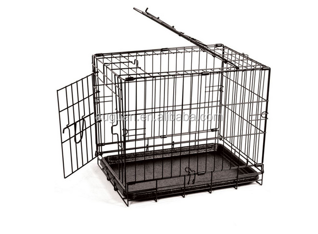 Wholesale indoor pet house /metal iron wire dog kennel / folding double dog cage