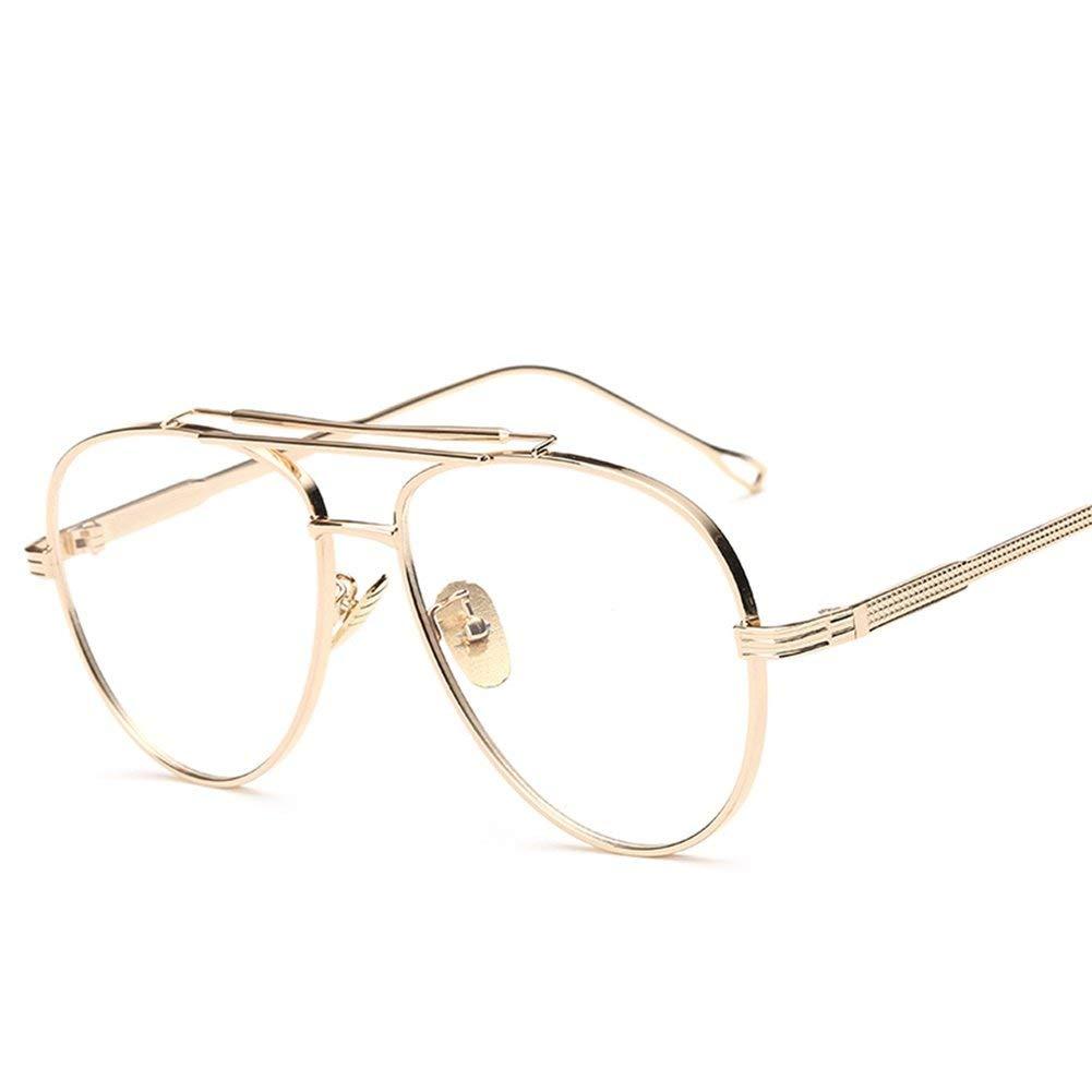 5fd69de4321e Get Quotations · Metal Eyeglasses Frames Men Flat Top Style Eye Glasses  Frames for Women Unisex
