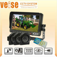 Digital Screen Monitor Support Three-channel 7 inch Split Screen Quad Monitor for Agriculture Equipment