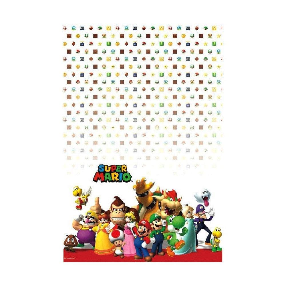 Bargain World Super Mario Brothers Plastic Table Cover (with Sticky Notes)