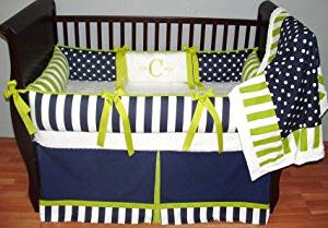 Modpeapod Carrington Navy & Lime Breathable Baby Bedding Set