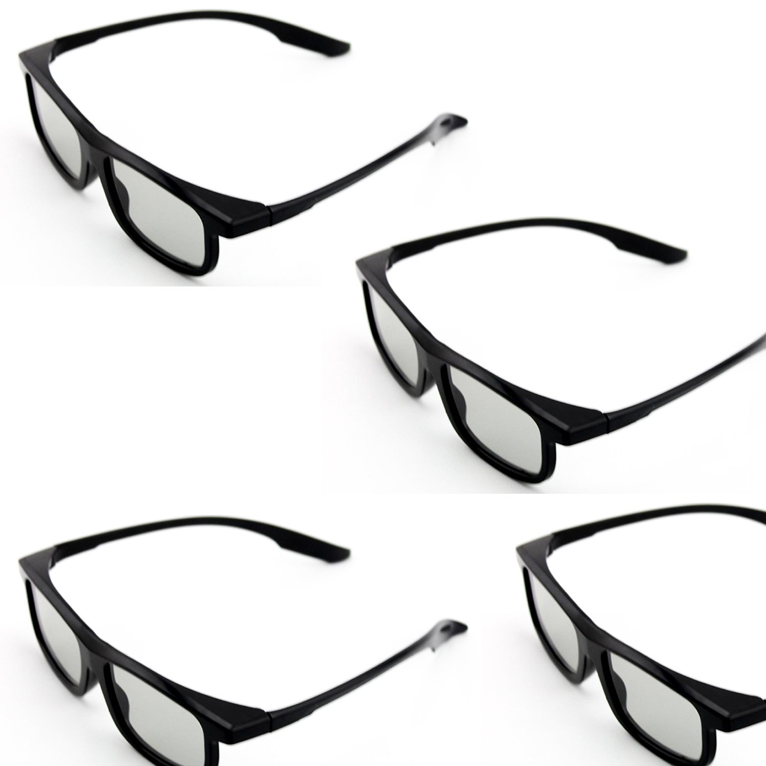 Goswot 4 Pairs of Passive Circular Polarized 3D Glasses for Real-D Theaters/ Passive 3D TVs