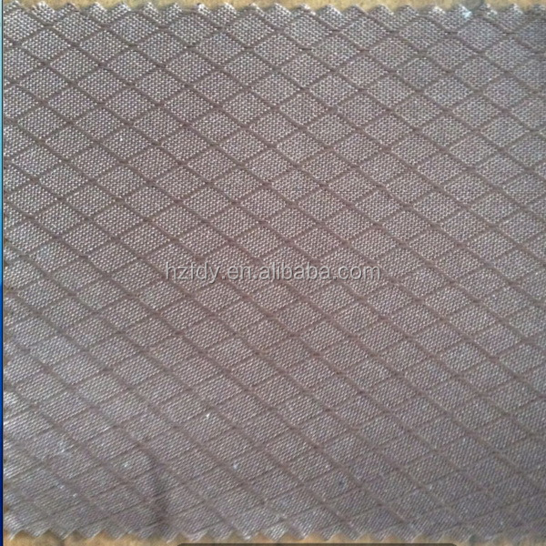 PVC or PU coated diamond jacquard poly fabric