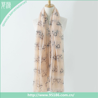 SC-119716 Qianxun women summer printing cat fashion voile scarf