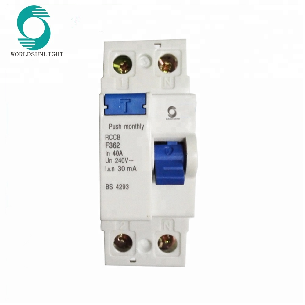 Xf360 Series F362 Bs 4293 10ma 30ma 100ma 300ma 500ma 40a 2p Rccb Wiring Diagram Residual Current Circuit Breaker Buy Rccb40a