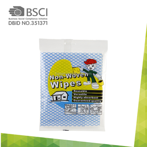 printed dish nonwoven wipe/all purpose clean wipe 100% rayon disposable cleaning cloths