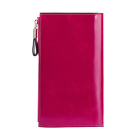 Wholesale anti-RFID leather ladies wallet new fashion long money women's clutch