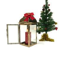 Innovative consumer products Season theme Decor Gold Stainless Steel christmas outdoor lantern candle