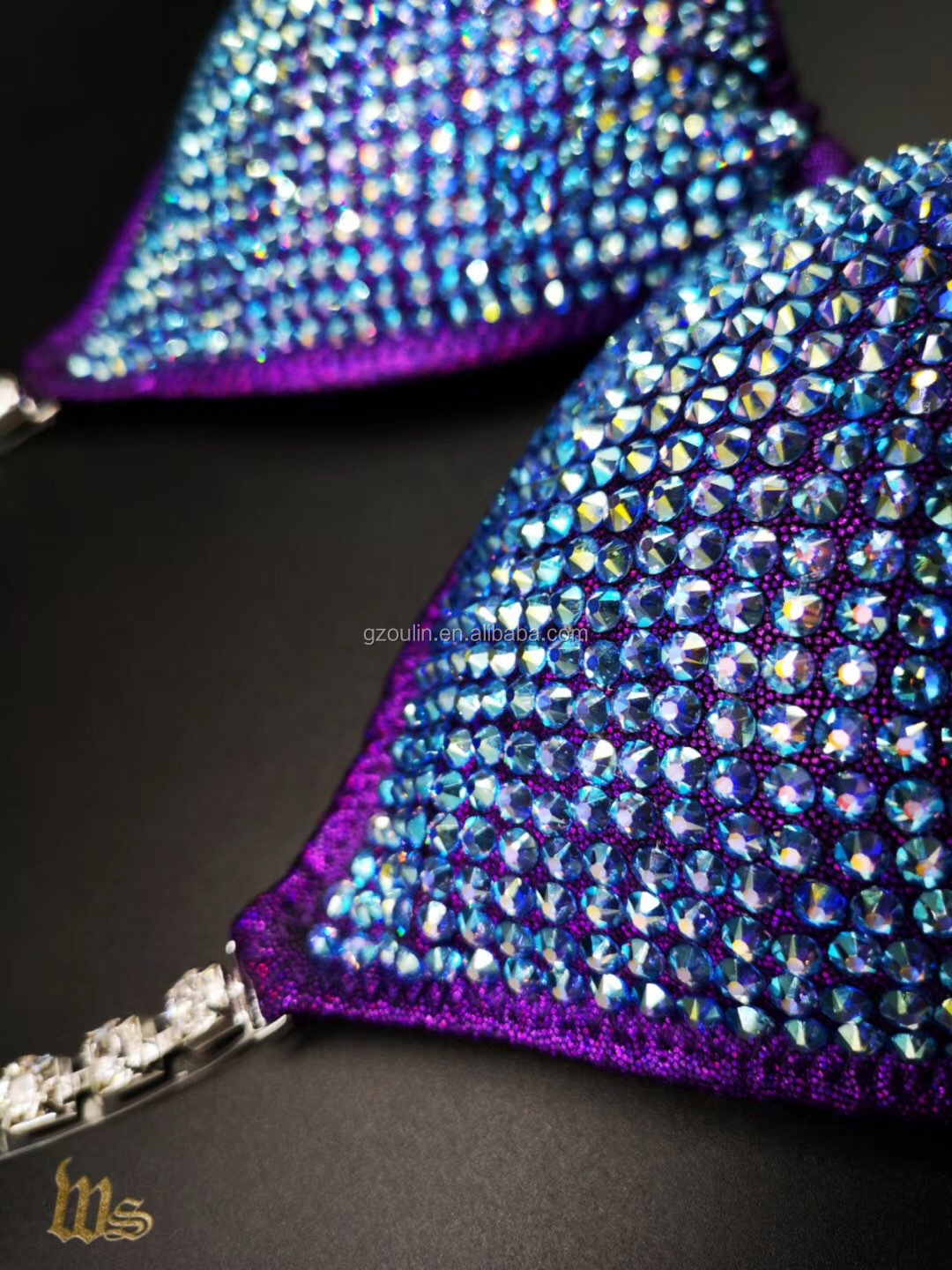 colorful rhinestones using on bra and under-wares accessory rhinestones designs hot fix type rhinestones