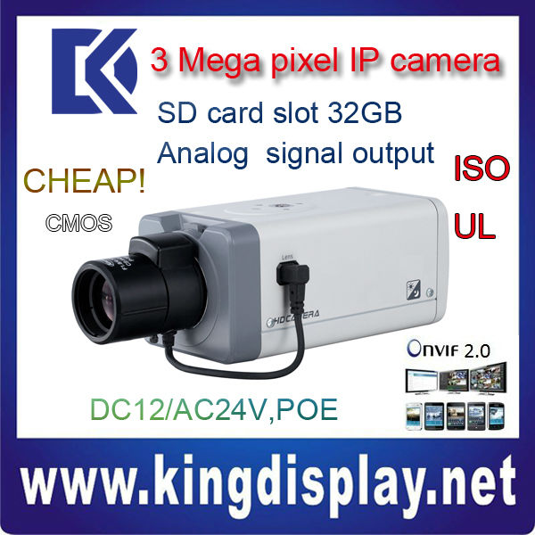 CGI API box IP CAMERA IPC-HF3300 DAHUA cctv ip camera 3.0 mega POE onvif2.0 camara free software IR CUT for night use