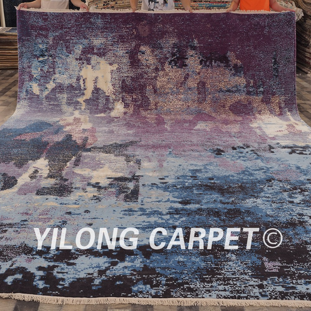 10'x13.8' Chinese carved wool rugs excellent processing condition wool hand made carpet