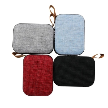 hot selling fabric usb mini speaker for outdoor/indoor with Lanyard