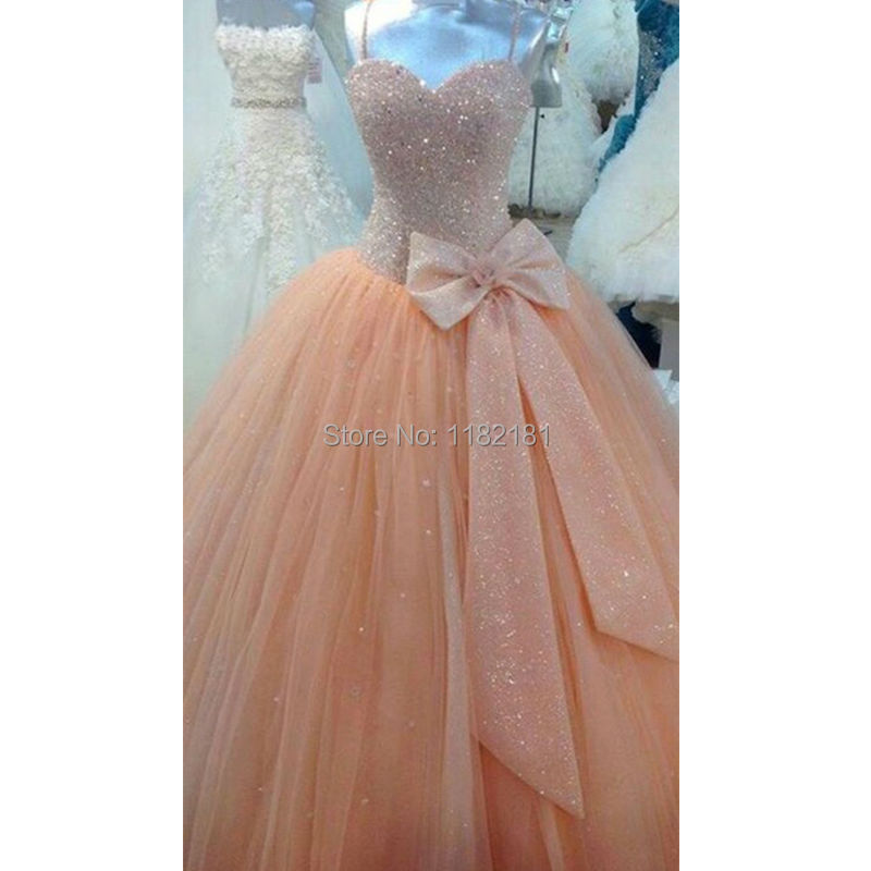 Prom Dresses with Pink Bows