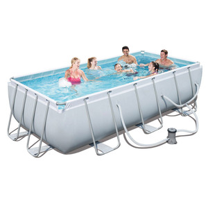 Giant rectangular metal above ground swimming pool 56441 4-6 person container stainless steel pool for homes