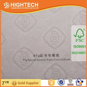 Watermark paper / security thread paper / security watermark paper