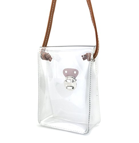 Clear mini cross body single shoulder ladies jute bag cute PVC messenger bag