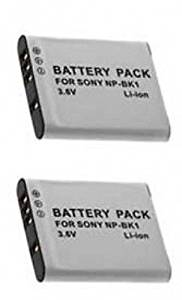 TWO 2 NP-BK1 NP-BKI NP-FK1 Batteries for Sony DSC-S750, Sony S780 S950 S980 W180, Sony W370