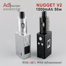 2016 Wholesale 1500mAh 2ml 50W Artery Nugget V2 Kit elec cigs from A&D