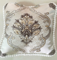 Sample houses brown jacquarded flower luxury pillow case