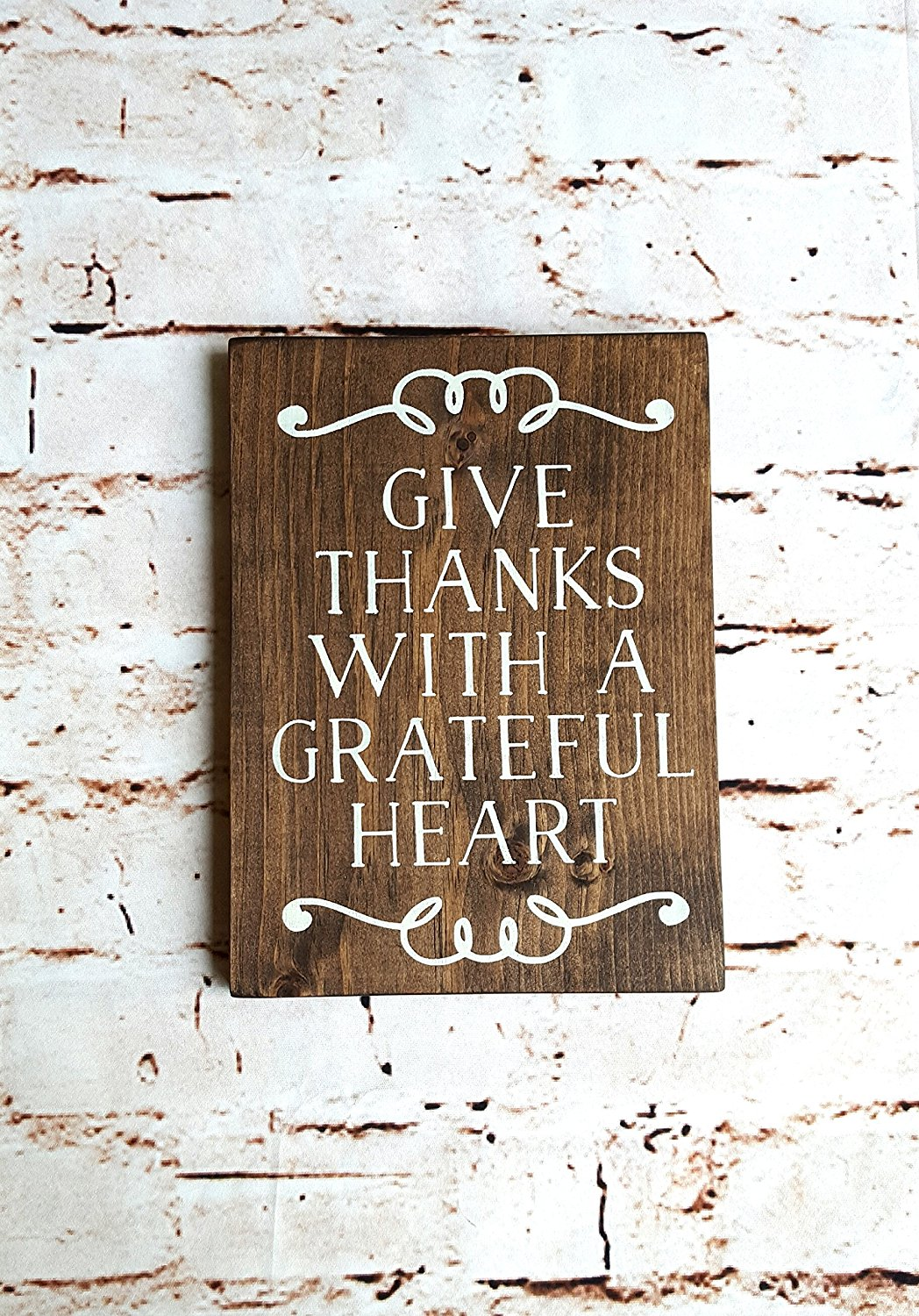 Buy Rustic Wood Sign Give Thanks Scripture Wall Art Nursery Wall