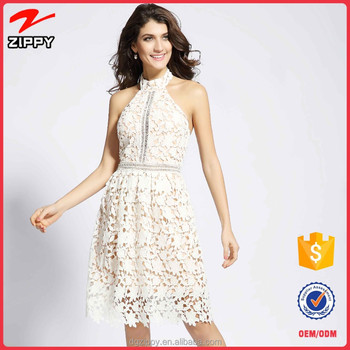 Ivory Vintage Lace Wedding Dresses Backless Cover Up Beach Dress ...