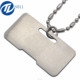 Top Grade Quality Sterling Silver Blank Dog Tags Necklace