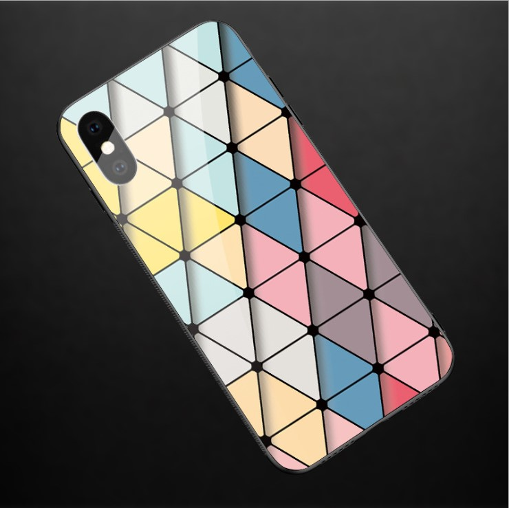 2019 New Arrivals Best Selling Marble Stone Pattern Design Printed Tempered Glass Phone Case For iPhone X 10 8 7 6 Plus, Multi colors