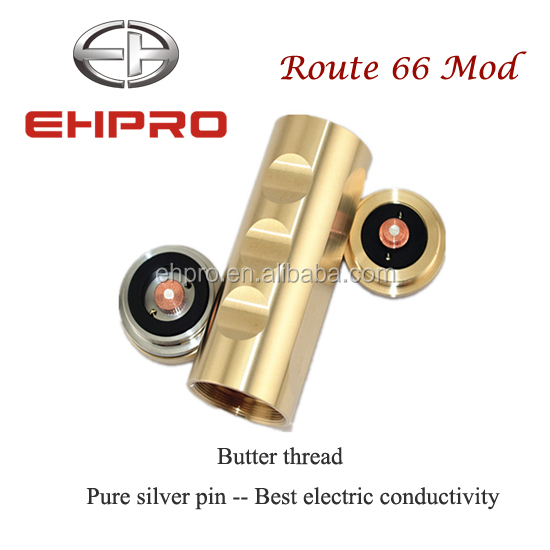 Alibaba express mech mod 26650 Route 66 mod pure silver pins from Ehpro