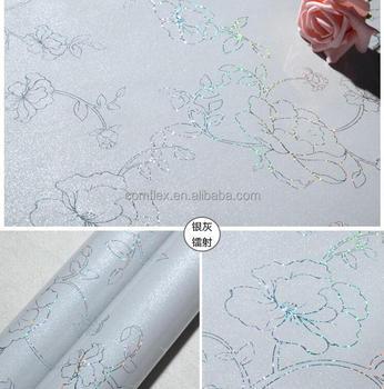 1 22 50 M Auto Adhesif Pvc Papier Peint Argente Film Protecteur Meubles Rouleau Taille Vinilos Cuisine Fenetre Film Autocollant Buy Papier Peint