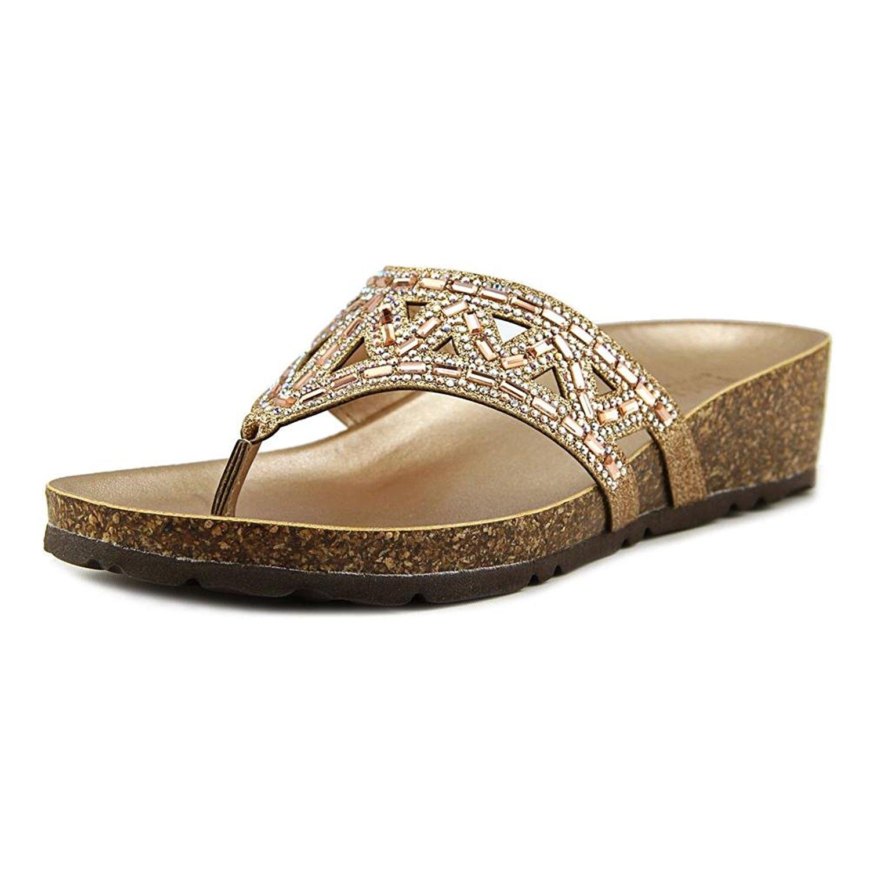 Italian Shoe Makers Emilie Women Bronze Wedge Sandal