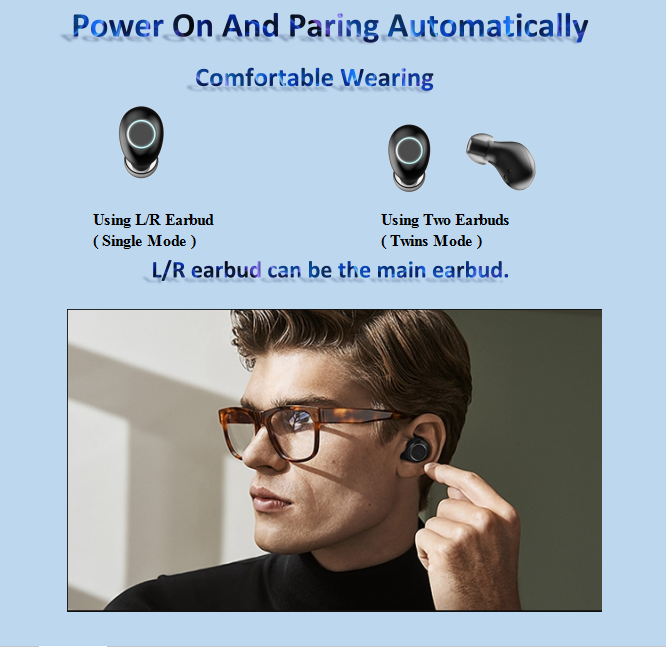 Nieuwe model TWS in oor hoge kwaliteit magnetische oem ruisonderdrukkende mobiele ODM headset