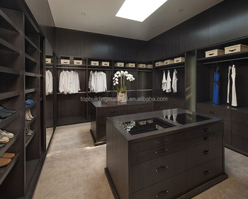 German quality bedroom closet wardrobes with island