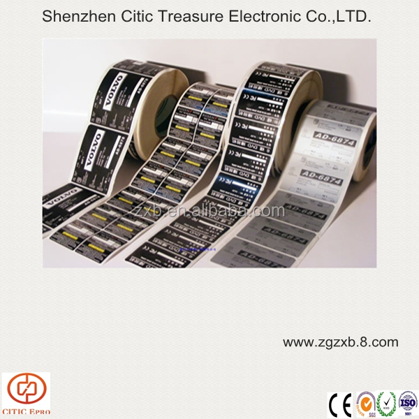 High temperature resistance label / Self-adhesive PET label for electronic product