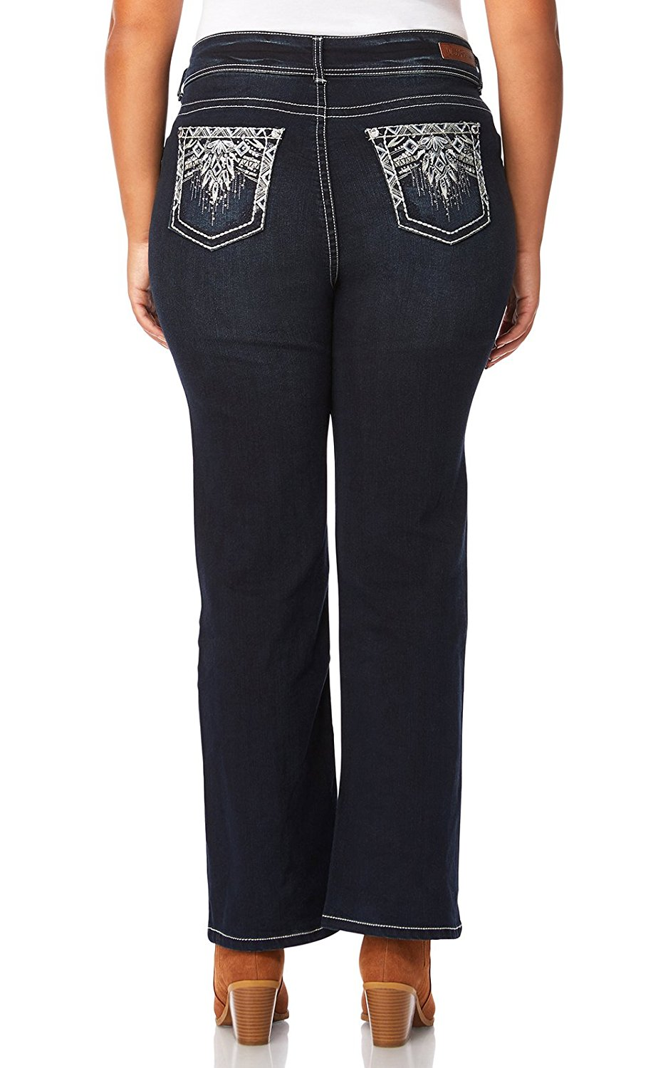 d7bc877c8628d Get Quotations · WallFlower Plus Size Luscious Curvy Bling Bootcut Jeans
