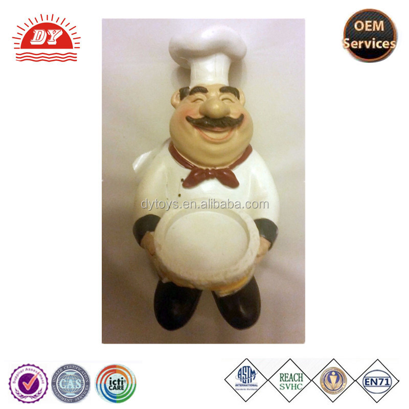 ICTI certificated custom made kitchen chef figurines plastic maker